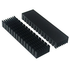 75*20*10mm Black Anodized Aluminium Heat Sink For Power Transistor/TO-126/TO-220