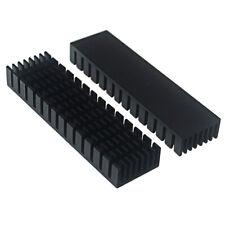 752010mm Black Anodized Aluminium Heat Sink For Power Transistorto 126to 220