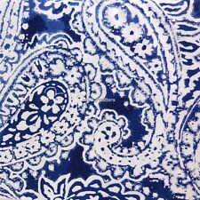 TOMMY HILFIGER Mission Paisley 3PC QUEEN DUVET SET navy blue white cotton NEW