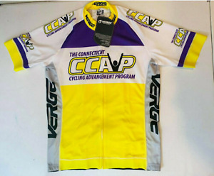 Verge Sport Men's Triumph Cycling Jersey ,Shirt White/Grey/Yellow/Purple CCAP