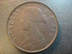 1865 Newfoundland Canada Large Bronze Cent. Victoria Young Bust. Very Fine.