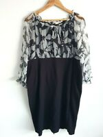 Jane Lamerton Black Sheer Long Sleeve Midi Plus Size 20