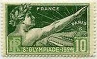 """FRANCE STAMP TIMBRE YVERT 183 """" JEUX OLYMPIQUES DE PARIS 1924 10 C """" NEUF x TB"""