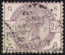 QV 1883 2 1/2 D LILLA SG190 LETTERE KQ BUON USATO