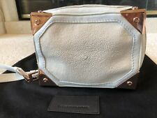 Alexander Wang Stingray Leather And Suede Clutch Handbag Rose Gold Hardware