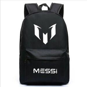 Casual Laptop Backpack Schoolbag Sack Lionel Messi Logo Barcelona Bag
