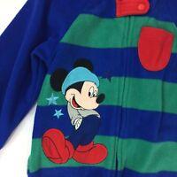 Mickey Mouse Blanket Sleeper Size 18 24 Months Fleece LgSl Blue Red Disney Brand