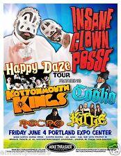 INSANE CLOWN POSSE /KOTTONMOUTH KINGS /KITTIE 2010 PORTLAND CONCERT TOUR POSTER