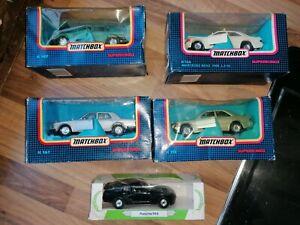5 Matchbox Superkings Cars & Corgi PORSCHE 944 MERC E190 BMW ROLLS ROYCE