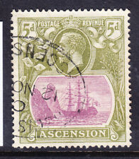 ASCENSION George V 1927 SG15d 5d purple & olive-green - very fine used. Cat £26