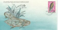 COLLECTION TIMBRES DE LA MER FONDATION COUSTEAU / FAUNE COQUILLAGE 1979