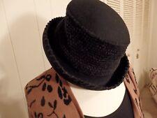 96673d493b433 Womens Hat Cap Winter Brim Wool Black Faux Knit Felt Dress Work Day Medium  Large