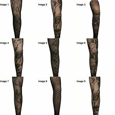 Sexy Footless Lace Tights 9 different patterns to chose funky/fashionable/style