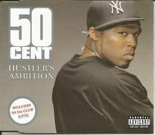 50 CENT Hustler's Ambition w/ IN DA CLUB LIVE Europe CD single USA seller SEALED