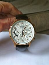 Pulsar Chronograph Gents Watch Brown Leather Strap PU6010X1