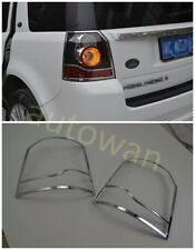 Chrome Tail Rear Head Light Lamp Cover Trim for 12-2015 Land Rover Freelander 2