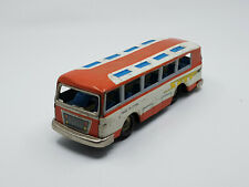 Red China Sight-Seeing Passenger Bus - Tin Friction Toy - MF 130