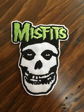 "Misfits PATCH - 4"" Iron-on embroidered band rock music New the misfits skull"