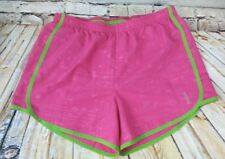 Reebok XL Extra Large Womens Pink Green Play Dry Shorts