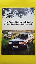 Talbot Alpine LS GL GLS SX car brochure sales catalogue December 1979
