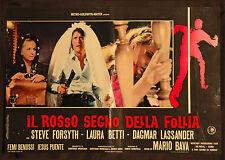 CINEMA-fotobusta IL ROSSO SEGNO DELLA FOLLIA - M. BAVA
