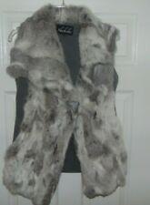 rare shahchi fur vest coat rabbit fur size medium