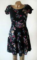 Dorothy Perkins Dress BNWT Size UK 10  Black  Floral Jersey Skater