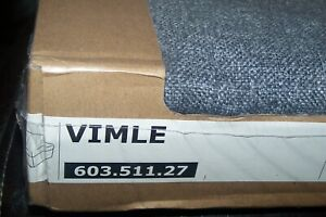 IKEA VIMLE COVER ONLY footstool with storage Gunnared medium grey 603.511.27