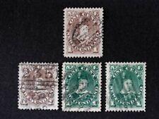 Canada / Newfoundland Scott 42 - 45, 1880-96, Used, SCV: $90