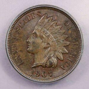 1907-P 1907 Indian head cent 1C ICG MS65+ BN