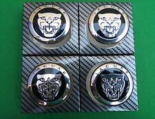 Jaguar Noir Roue Alliage Centre Caps Set de 4 59 mm x XJR XJ6 XF F Type Hub