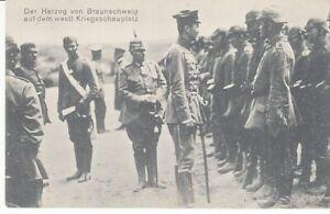 Carte Postale Adel Braunschweig Herztog De Braunschweig Sur Westl. Kriegssch