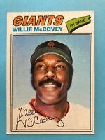 1977 Topps Baseball Card #547 Willie McCovey San Francisco Giants