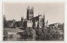 Worcester, Cathedral from The River RP Postcard, B484
