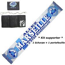 ECHARPE + PORTEFEUILLE MARSEILLE OM ! no drapeau maillot fanion scarf bufanda