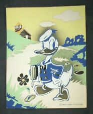 1940'S Vintage Donald Duck Litho Print In A+ Condition Walt Disney Productions