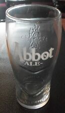 BRAND NEW GREENE KING ABBOT ALE PINT GLASS (STAMPED)