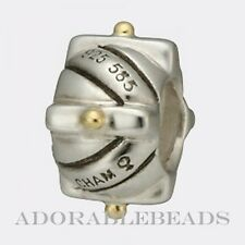 Authentic Chamilia Sterling Silver & 14kt Gold Dots Bead KB-56 *RETIRED*