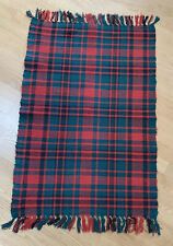 Vintage Crate And Barrel Christmas Holiday Red Green Plaid Table Runner Cover