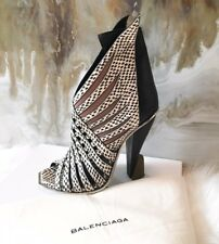 "RARE Balenciaga Runway ""Futuristic"" Snakeskin Leather Cutout Booties 38.5"