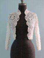 Vintage Full Lace Bridal Boleros Wedding Jackets Long Sleeves Applique Custom