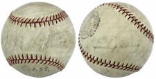 Yankees Babe Ruth & Lou Gehrig Signed Spalding Professional Model Baseball PSA