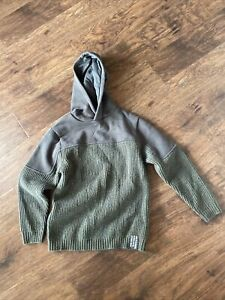Zara Kids  Boys Long sleeve Pullover w Hood Army Green  size 8   (E)