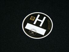 Feinstaubplakette Plakette Aufkleber schwarz H Oldtimer Youngtimer US USA V8 VW
