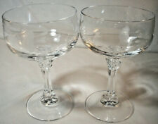 """Princess House Crystal: 2 BORDEAUX Champagne/Tall Sherbets: 5-1/2"""":#891: VGC: NR"""