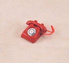 "Telephone Red Phone dollhouse miniature furniture 1/12"" scale G8008 metal"