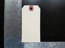 "100- 4-1/4"" x 2-1/8"" WIRED MANILA TAG HANG LABEL SHIPPING INVENTORY STOCK SIZE 4"