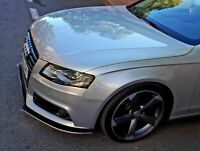 S line splitter For Audi A4 S4 B8 Front Bumper spoiler lip Valance Skirt Apron