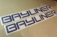 "Bayliner Vintage Boat Decal 24"" Navy Blue 2-PAK FREE SHIP + FREE Fish Decal"