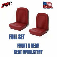 1966 Mustang Convertible Front and Rear Seat Upholstery Red by TMI-IN STOCK!!
